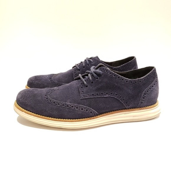 promo code e2dc1 007b6 Cole Haan Other - Cole Haan x nike lunarlon navy suede dress shoes